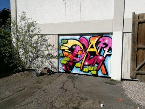 Graffiti Wandgestaltung Hintergrund Fotostudio Röder Kirchberg im Wald