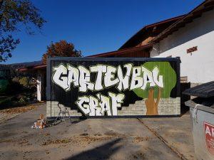 Graffiti Gestaltung Bauwagen Graf Gartenbau Streetart Woidstyle