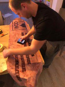 Snowboard Folierung Carwrap Beschrifung woidstyle
