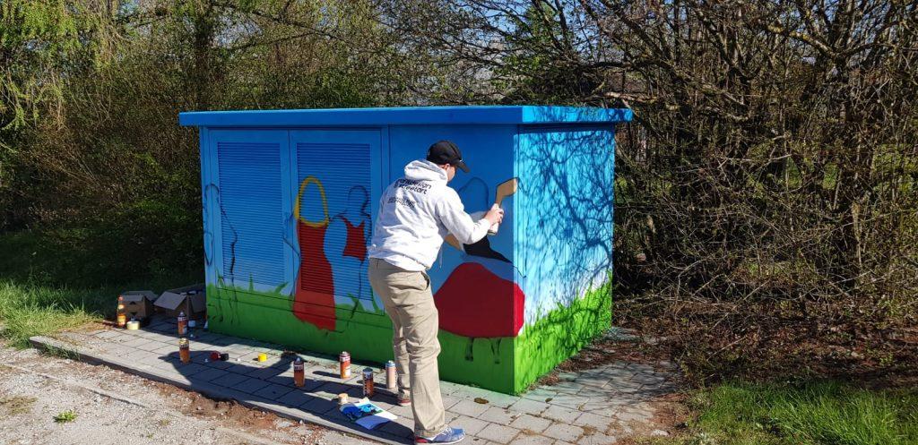 woidstyle Graffiti Trafostation Bayernwerk Kirchberg im Wald
