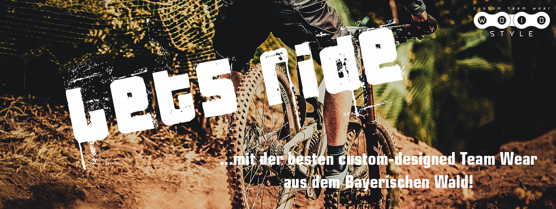 woidstyle creative design werbetechnik mountain bike bmx custom team wear jersey rad bekleidung regen deggendorf
